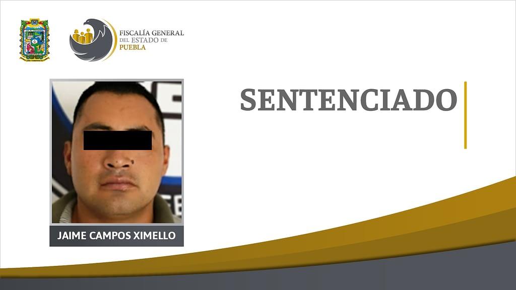 Homicida de Atlixco sentenciado a más de 20 años en prisión